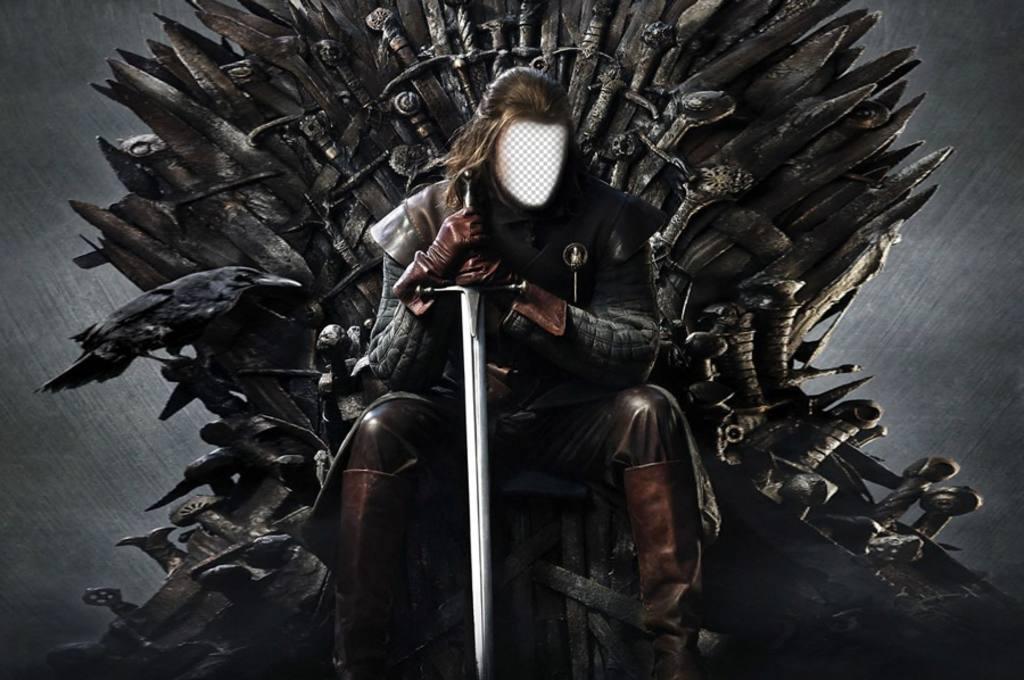 foto montaje ned stark trono hierro anadir cara