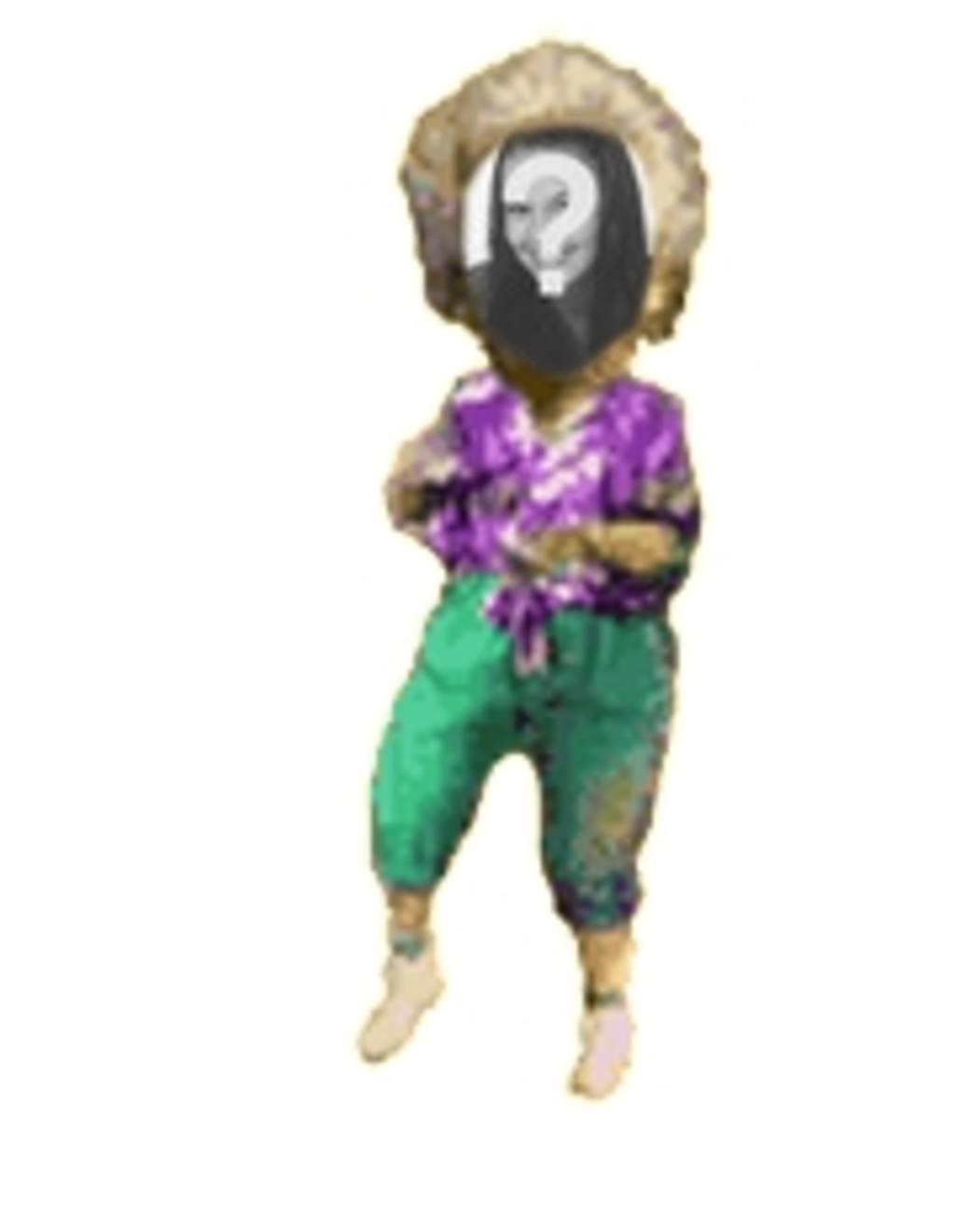 mujer animación