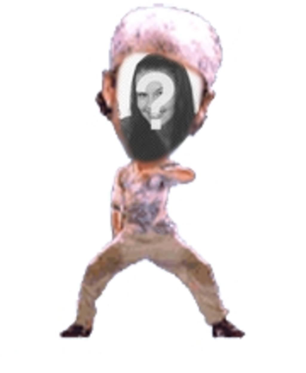 Divertida animación personalizada en la que pondrás tu cara en un fantástico bailarín