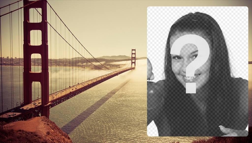 Postal con el puente Golden Gate