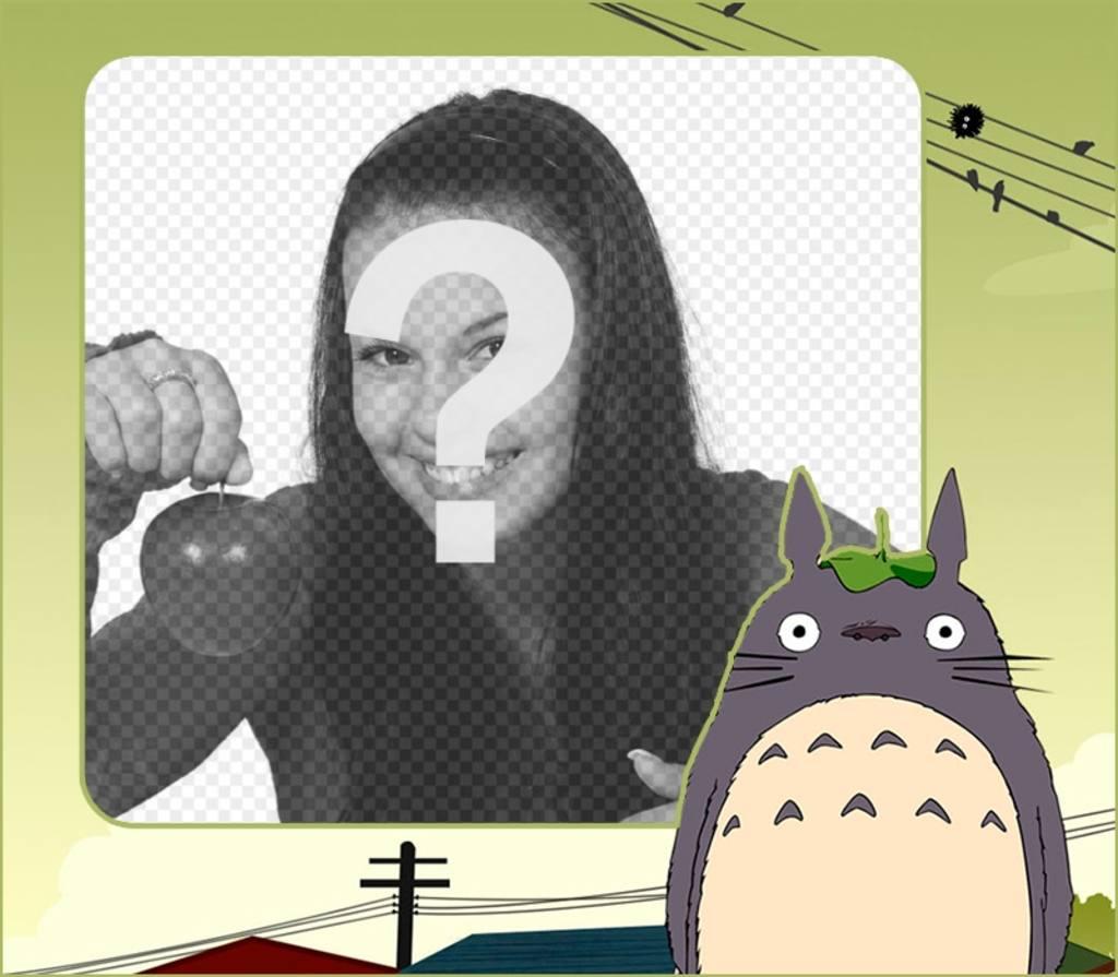 Marco infantil para poner tu foto junto a Mi vecino Totoro - Fotoefectos