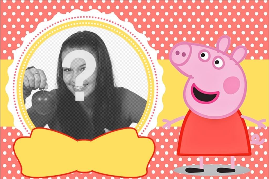 collage infantil peppa pig