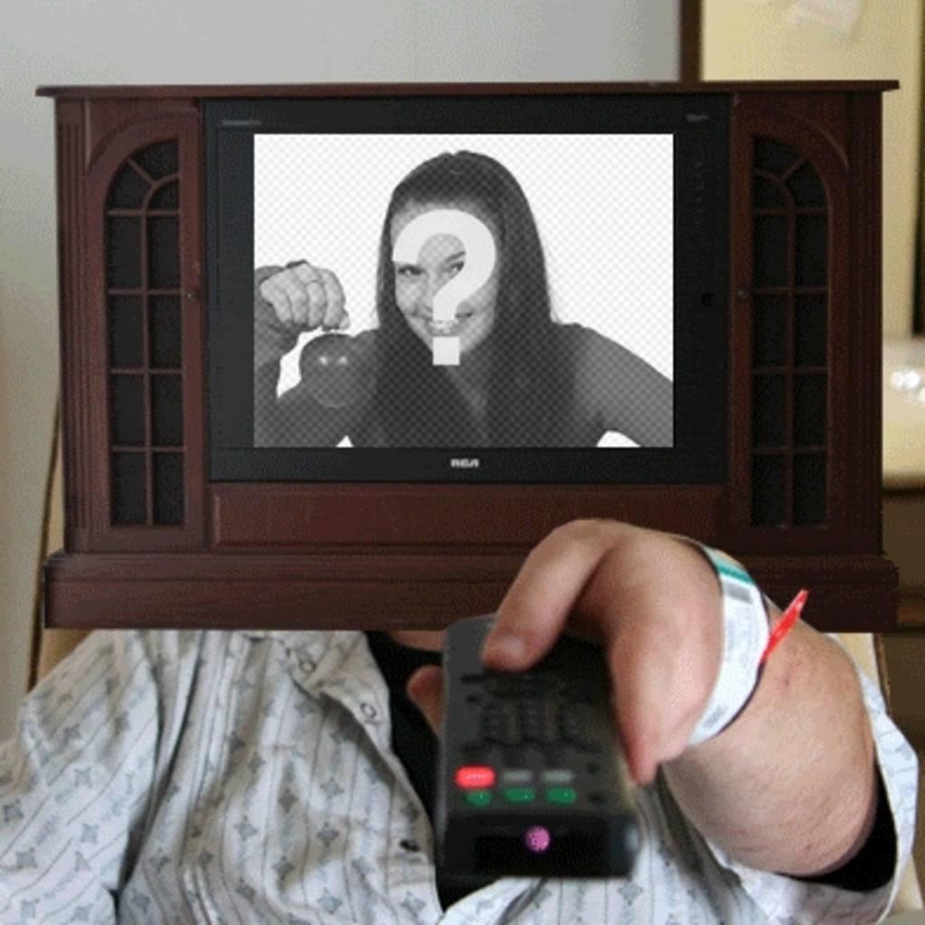 Animación para hacer con tu propia foto, en que serás una televisión que se apaga y enciende
