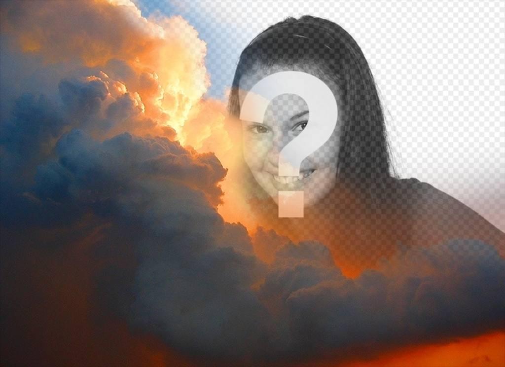 fotomontaje especial nubes