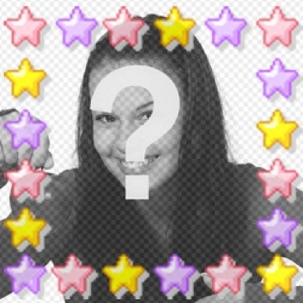 Animación de estrellas de colores personalizada con tu foto, ideal avatar