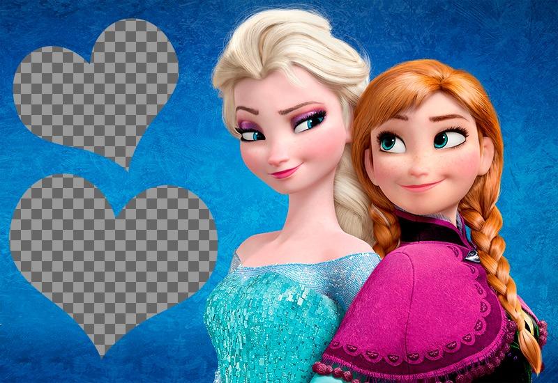 Fotomontaje para dos fotos con Frozen