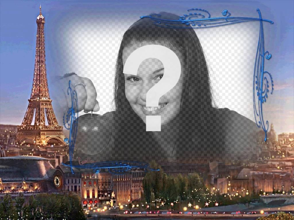 Marco para fotos con París de fondo, la ciudad del amor para hacer ...
