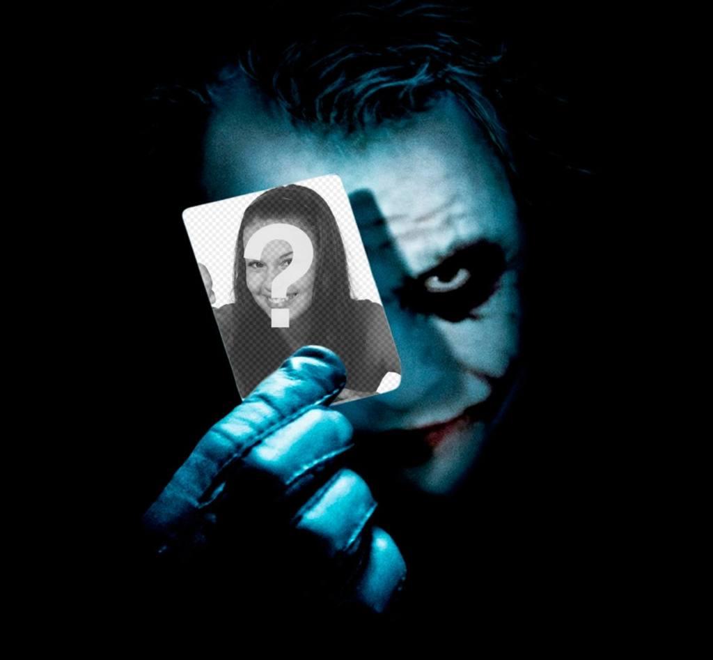 pon foto carta sujeta joker batman