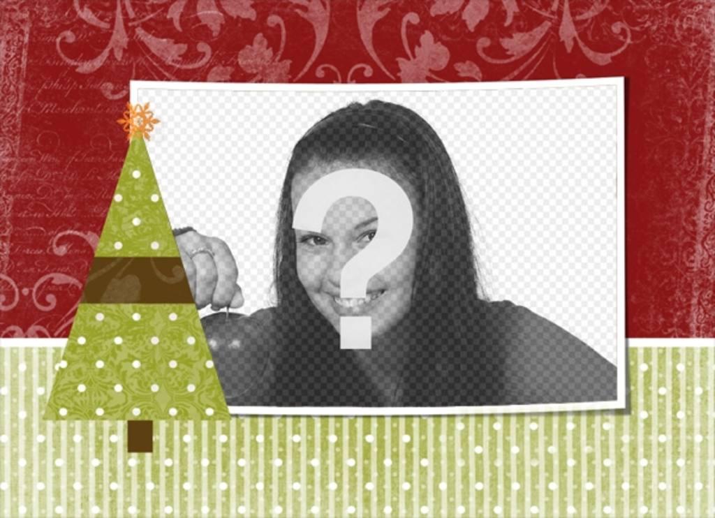 postal navidad personalizar foto eleccion adorno arbol navideno estrella