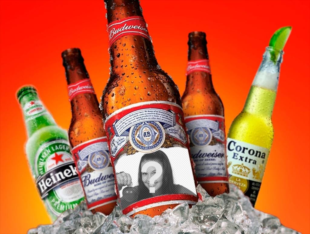 fotomontaje poner foto etiqueta cerveza