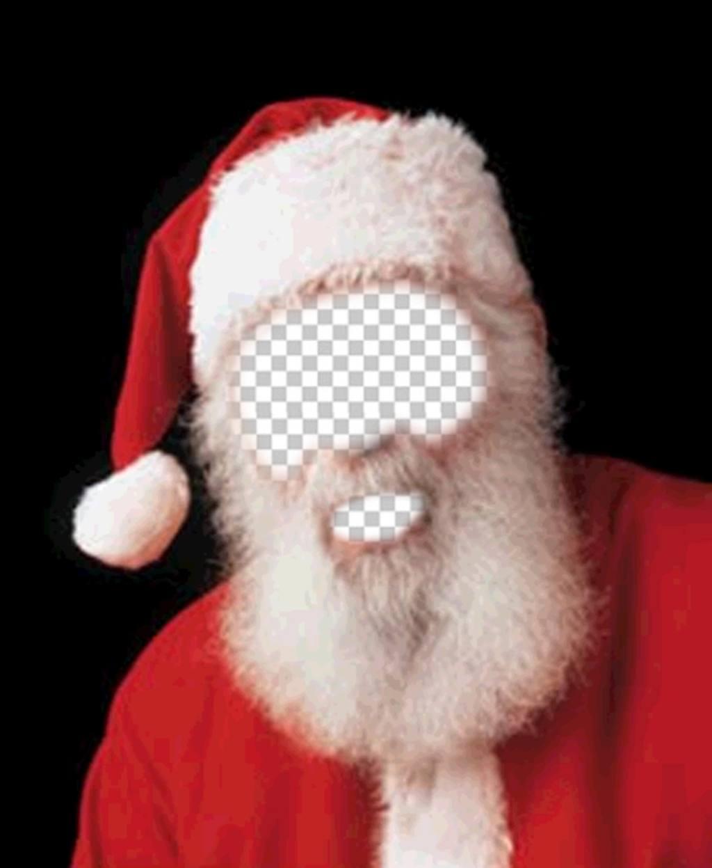 Foto montaje de disfraz de Papá Noel para esta navidad