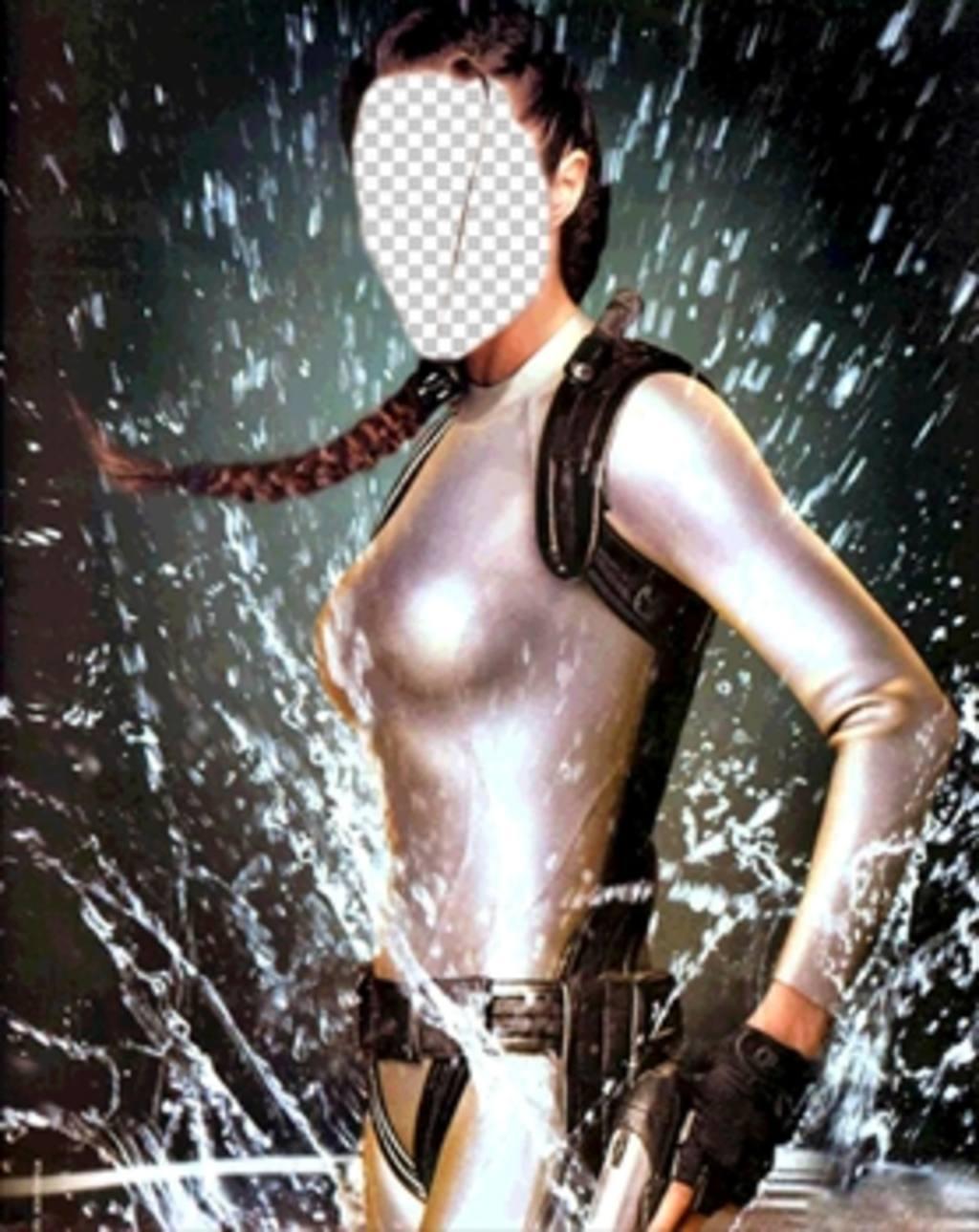 Conviértete en la aventurera Lara Croft con este montaje para editar