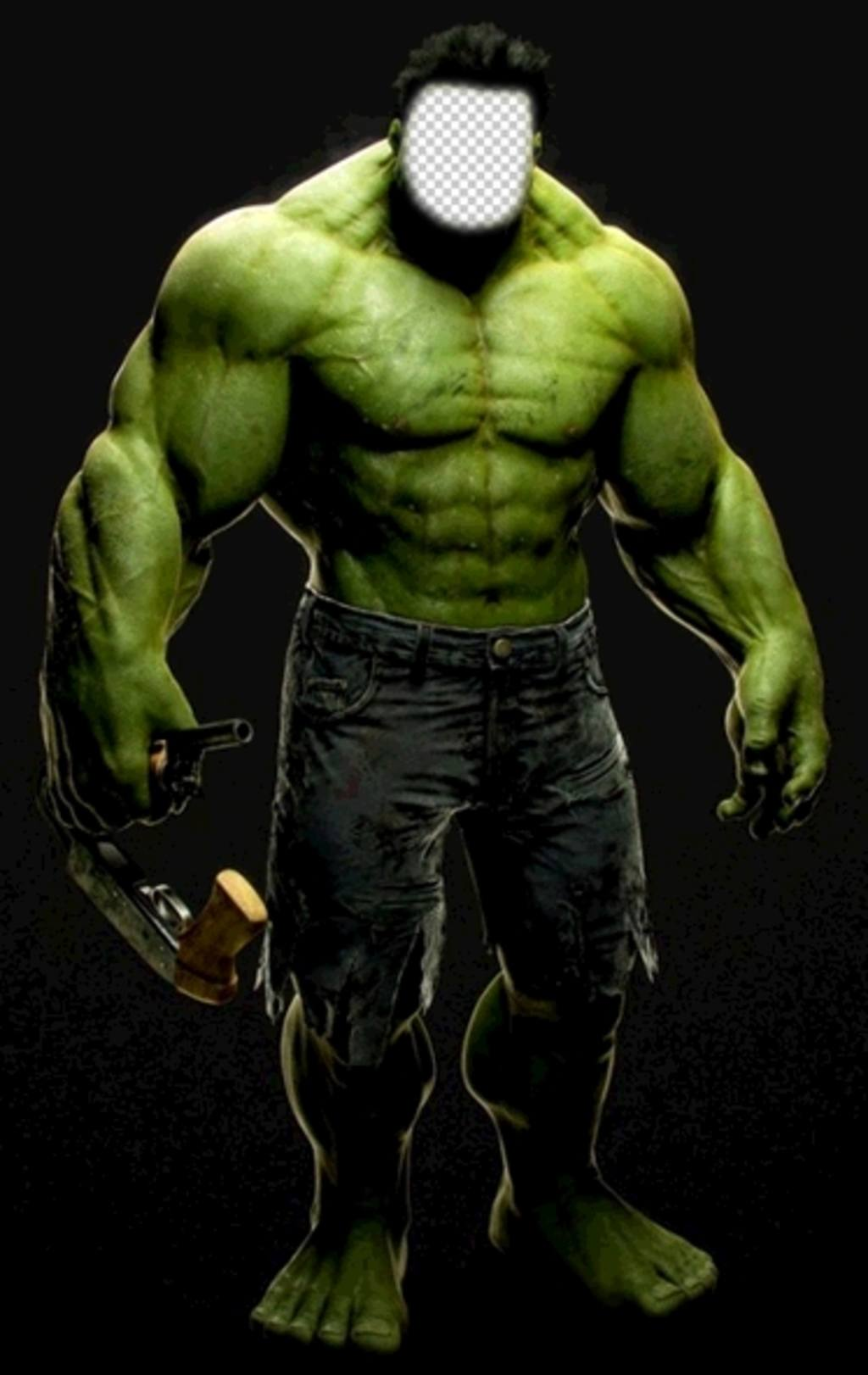 fotomontaje increible hulk ponerle cara