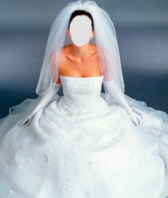 disfrazate novia vestido blanco fotomontaje