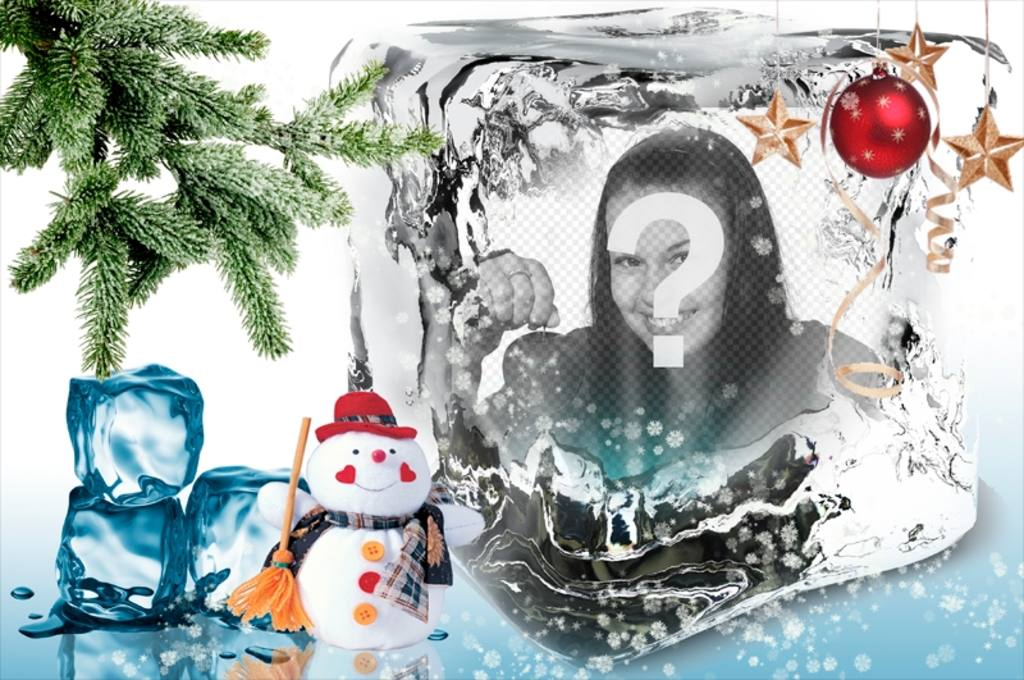 Plantilla de Navidad para poner tu foto en un cubito de hielo ...