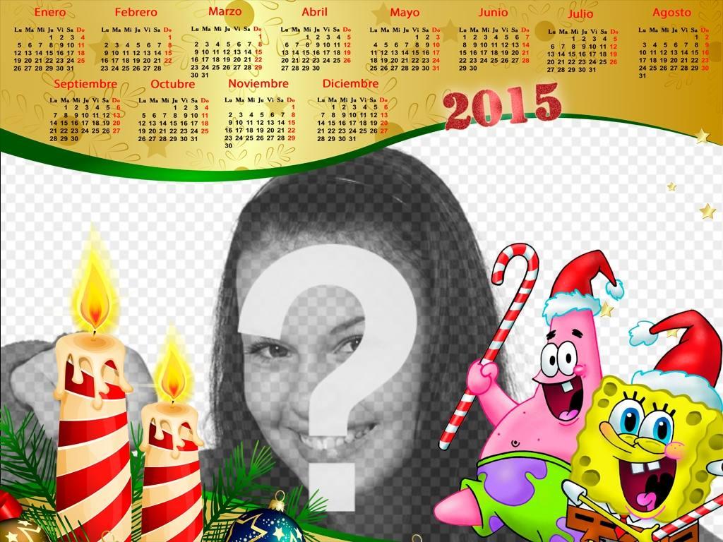 calendario navideno 2015 bob esponja