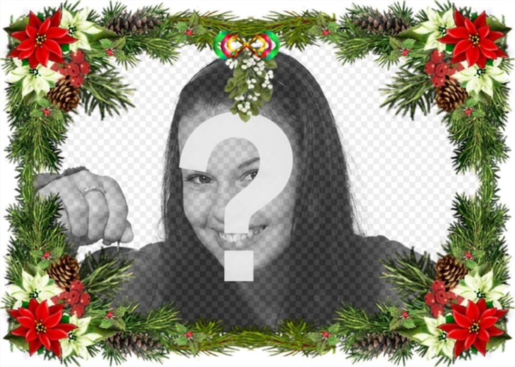 marco fotos adornos arbol navidad puedes utilizar felicitacion navidad