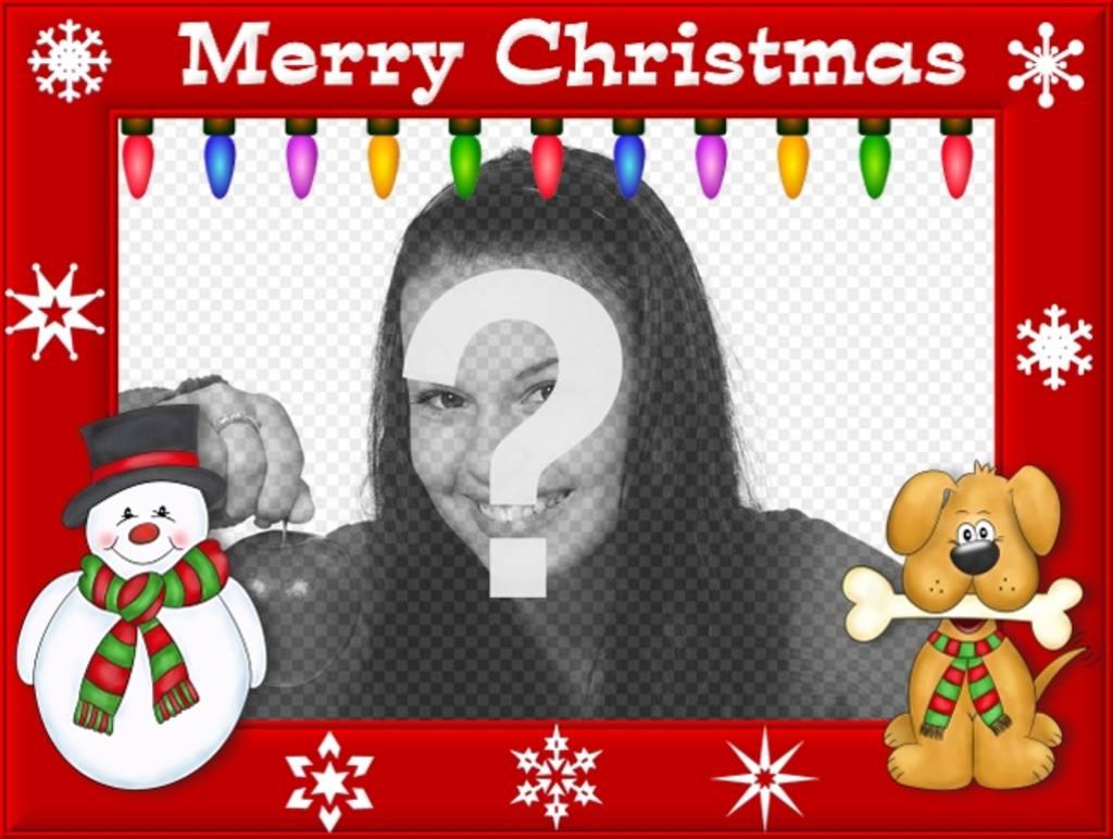 cuadro decorar fotos frase merry christmas luces colores