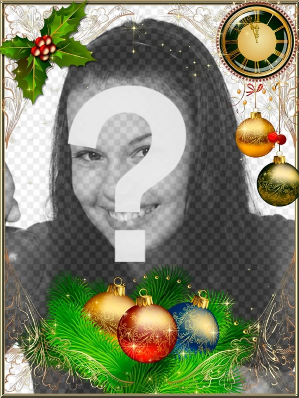 Marco para decorar tus fotos de Navidad y Año nuevo