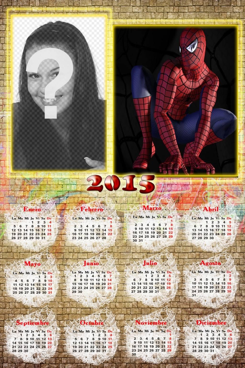 calendario 2015 spiderman foto justo lado