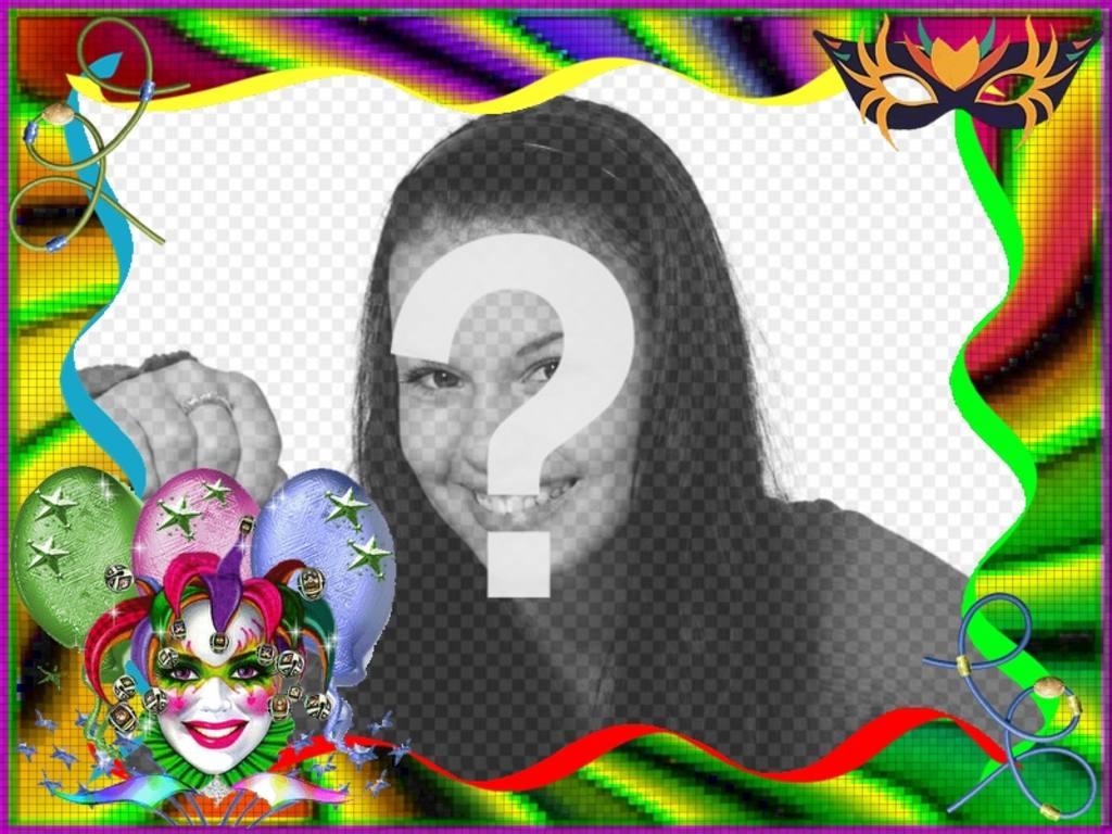 Marco de fotos de Carnaval para personalizar online - Fotoefectos
