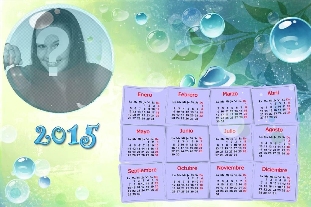 calendario 2015 foto burbuja