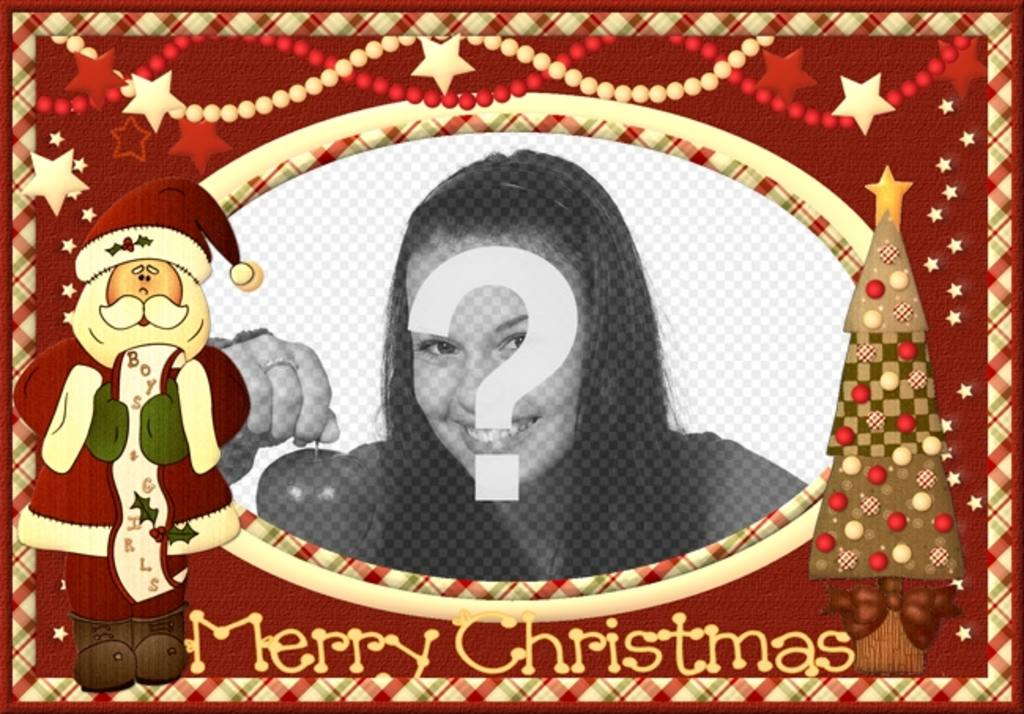 tarjeta vintage navidad santa claus poner imagen