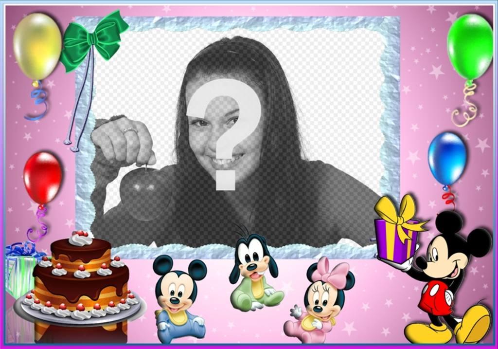 Postal infantil de feliz cumplea os con mickey mouse - Feliz cumpleanos infantil animado ...