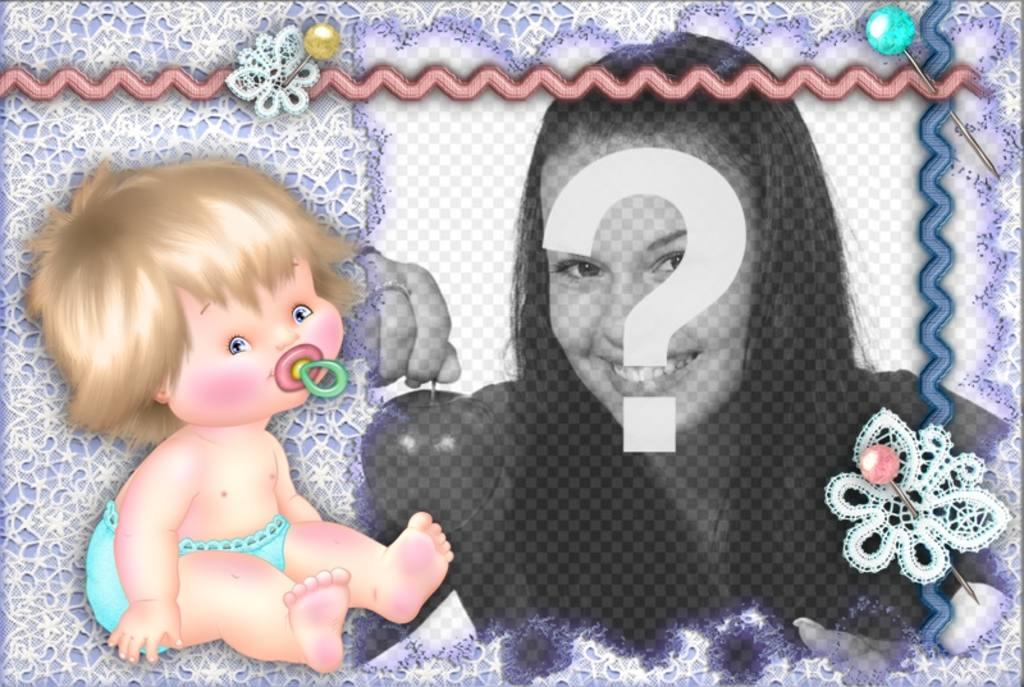 marco fotos un bebe personalizar foto