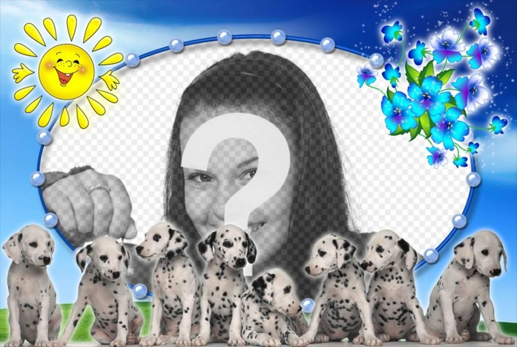 Fotomontaje con perritos dálmata y tu foto de fondo - Fotoefectos