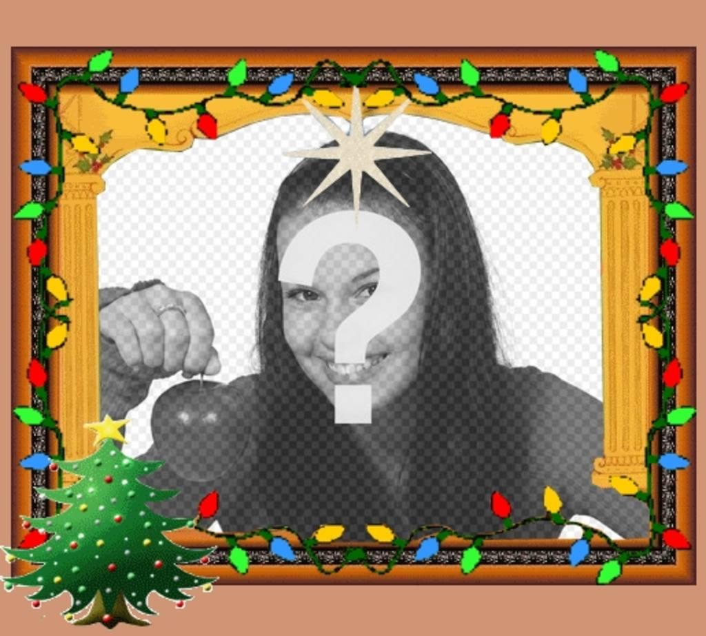 postal navidad animada luces arbol navidad
