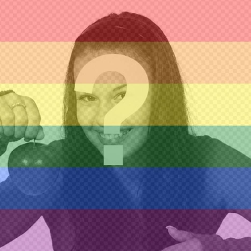 Pon los colores del arcoiris del orgullo gay en tus fotos