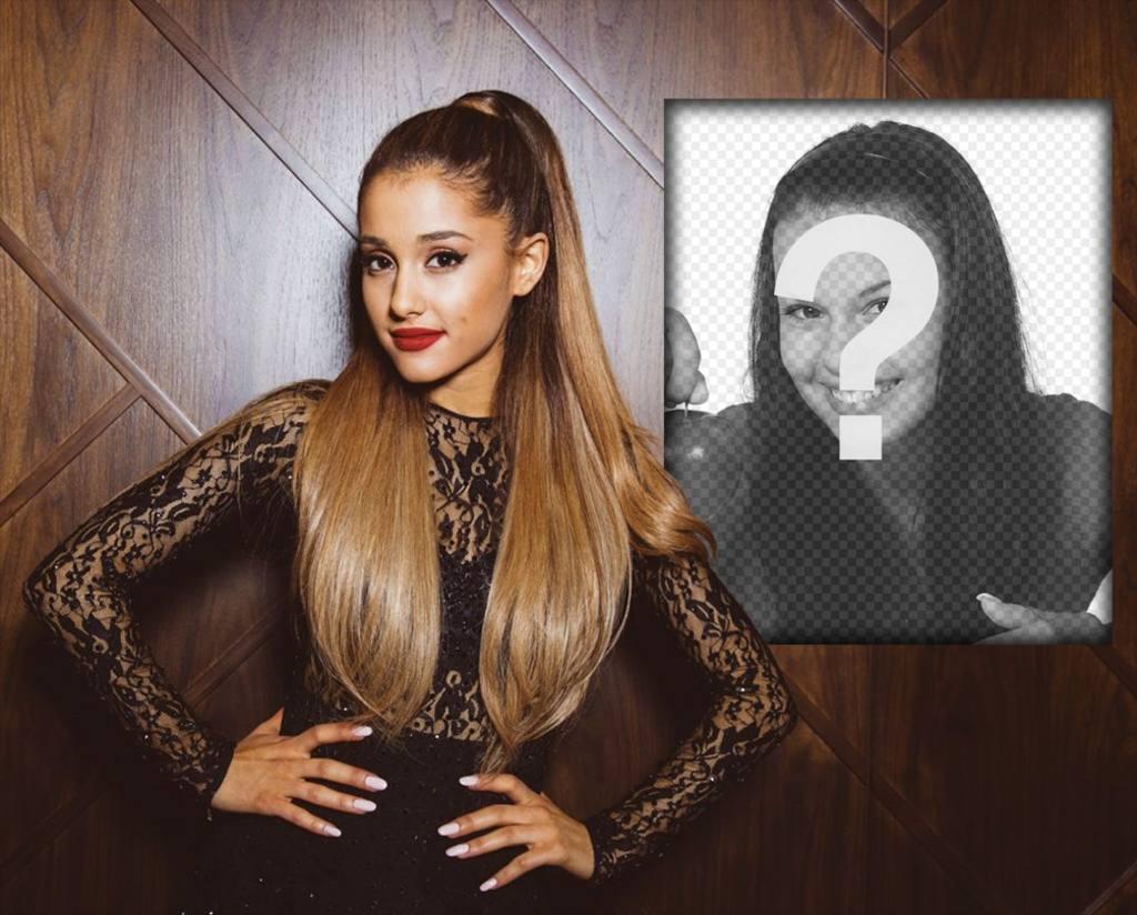 Fotomontaje con Ariana Grande para poner tu foto