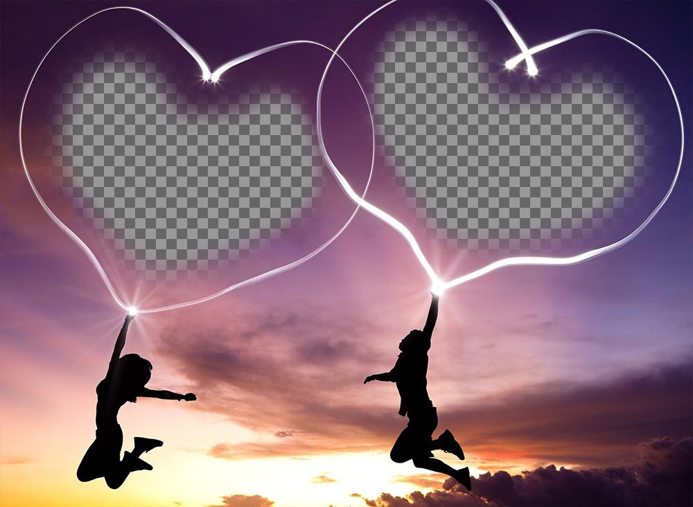 Fotomontaje de amor para poner dos fotos