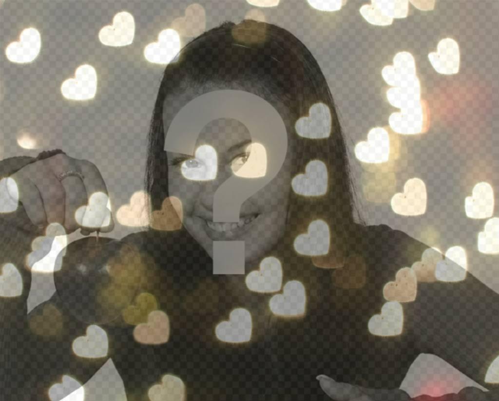 Filtro de luces en forma de corazón para tus fotos