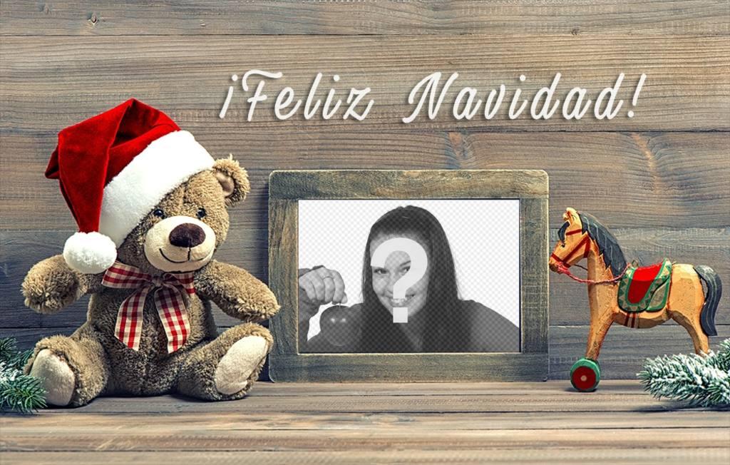 Fotomontaje con juguetes de Navidad para subir tu foto