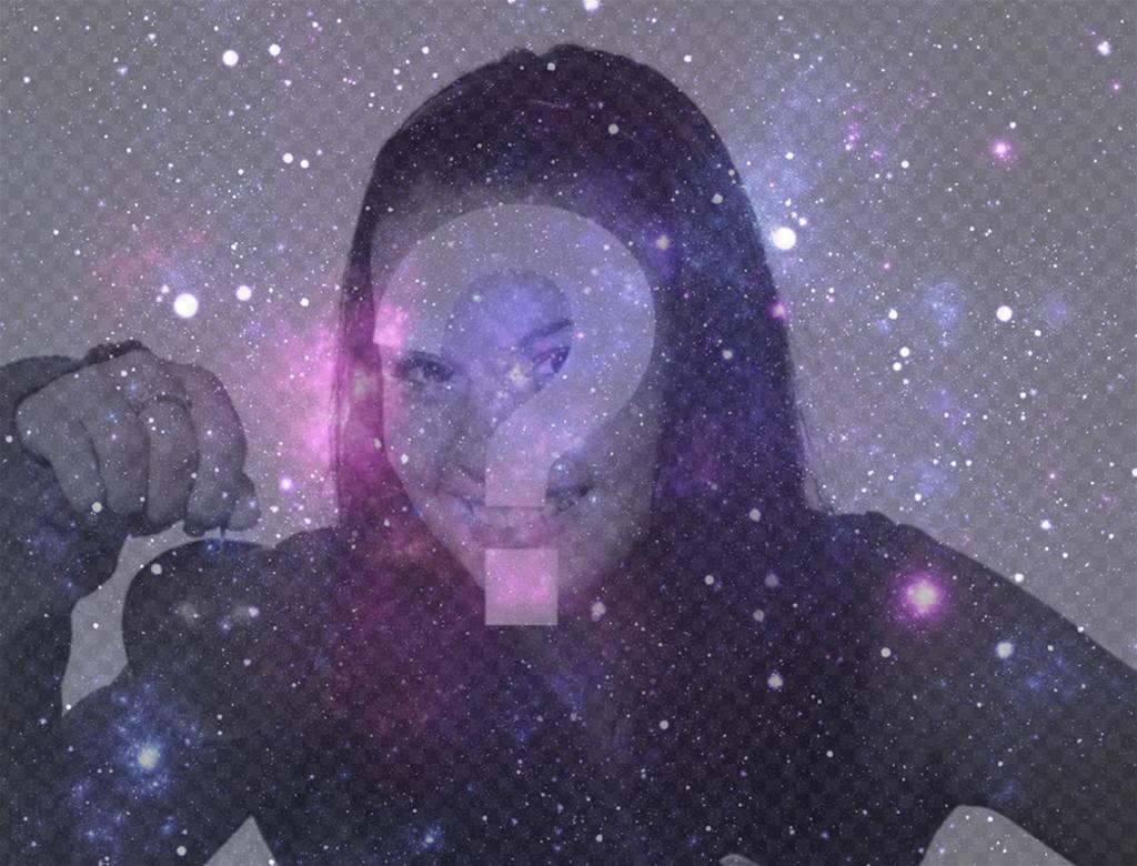 Fotomontaje del Universo para poner encima de tu foto
