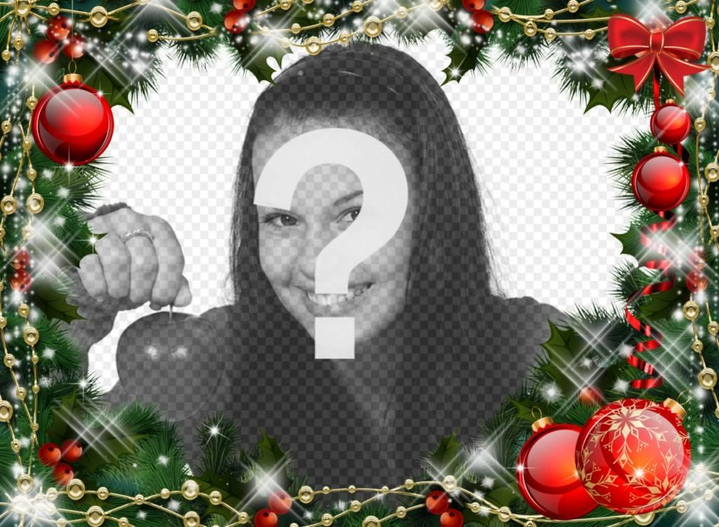 Marco online de guirnalda de navidad para tu foto for Navidad on line