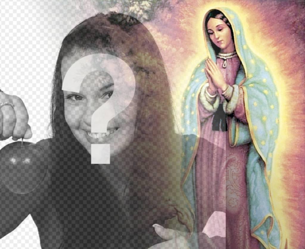 fotomontaje subir foto virgen guadalupe