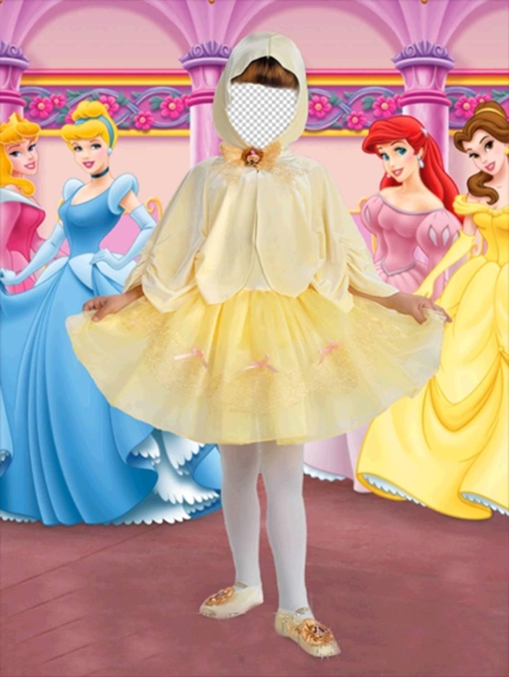 foto efecto disfraz pequena princesa ninas