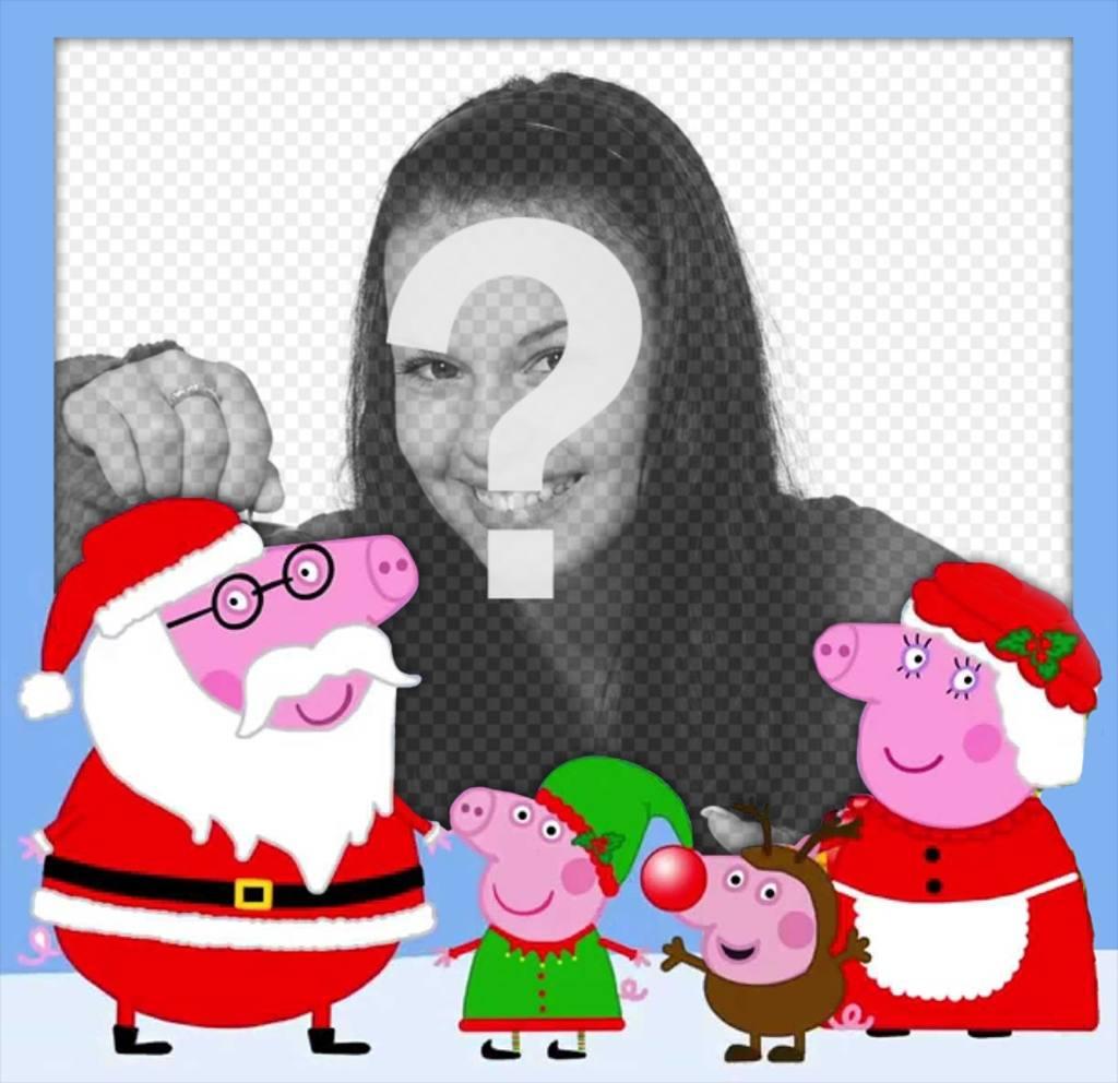 fotomontaje navidad familia peppa pig