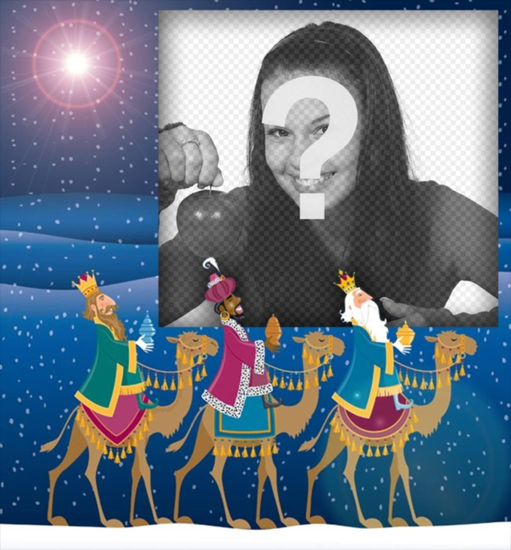 Imagenes Tres Reyes Magos Gratis.Postales Y Fotomontajes Con Los Reyes Magos Fotoefectos