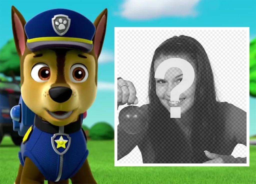 fotomontaje patrulla canina subir foto
