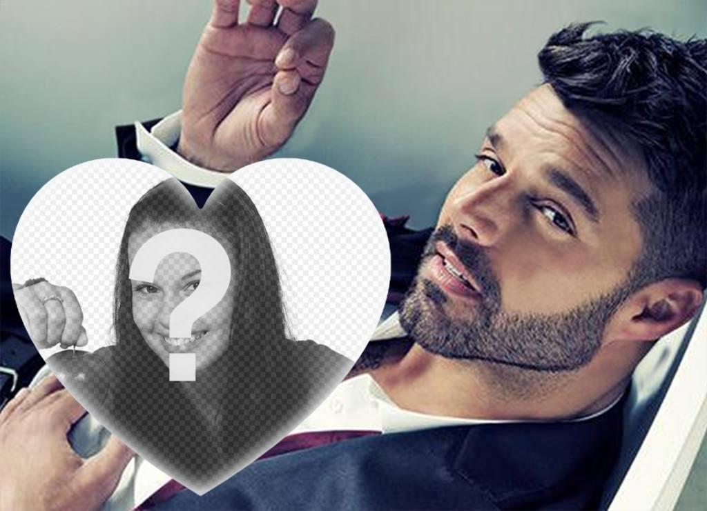 Un fotomontaje especial para los fanáticos de Ricky Martin