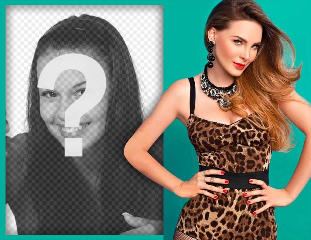 Fotomontaje para los fanáticos de Belinda para editar con una imagen