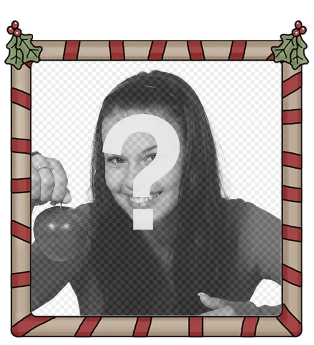 marco fotos holly jolly christmas perfecto poner foto fondo enviarlo felicitacion