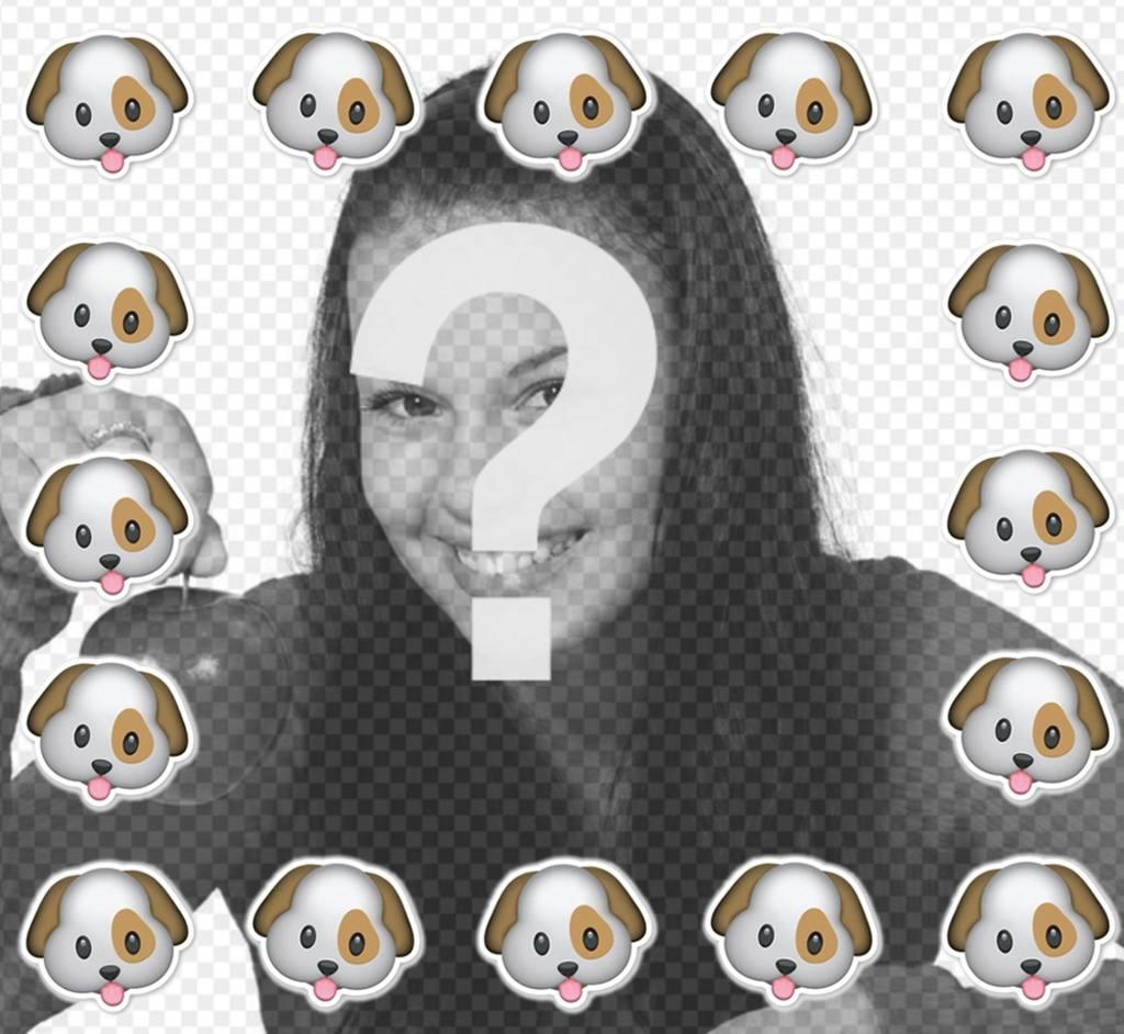 Rodéate del emoticono de perro con este marco para tus fotos ...