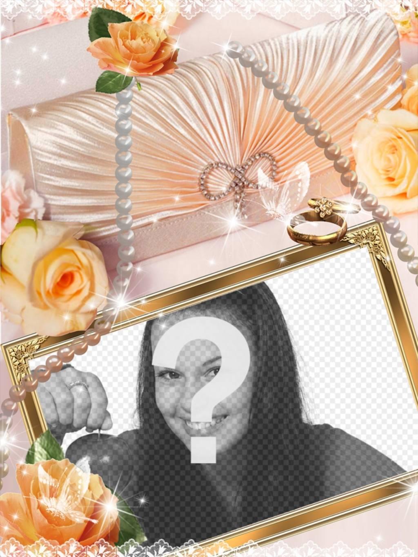 Celebra tu compromiso con este marco de boda - Fotoefectos