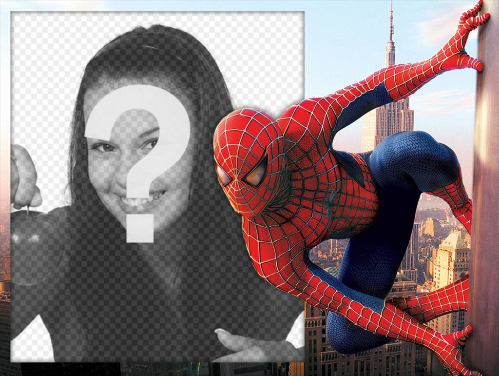 Foto efecto con Spiderman para editar con tu foto gratis - Fotoefectos