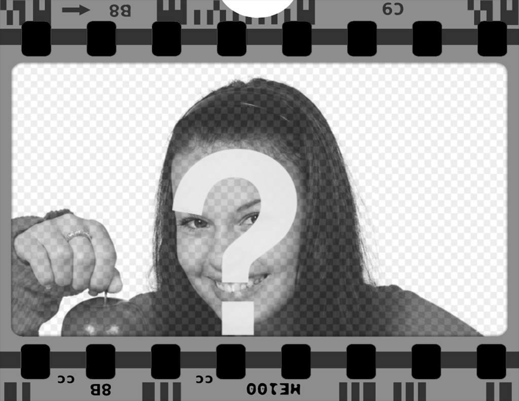 Marco gratis para fotos de una cinta de película - Fotoefectos